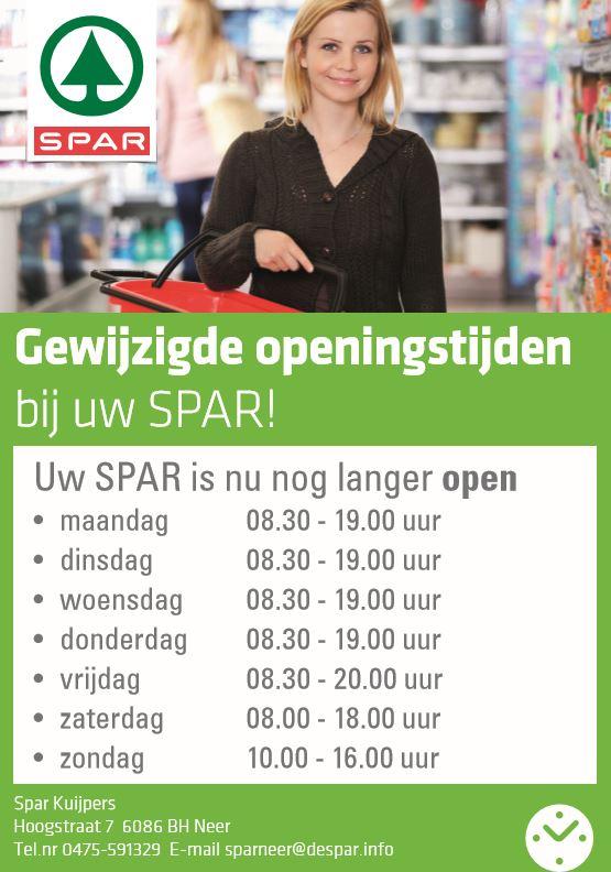 Spar open zondag